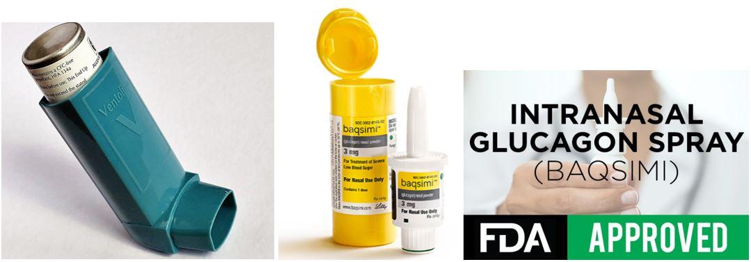 Foto: lijevo inhalator za astmu, u sredini inhalator za dijabetes :)