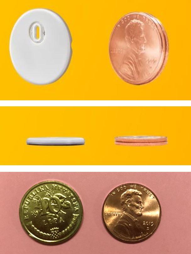 Iz ove serije fotki bi mogli zaključiti da je Libre3 senzor manji od 10 lipa kovanice
