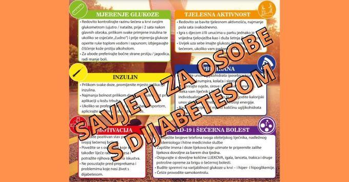 Generalne preporuke za osobe sa šećernom bolešću