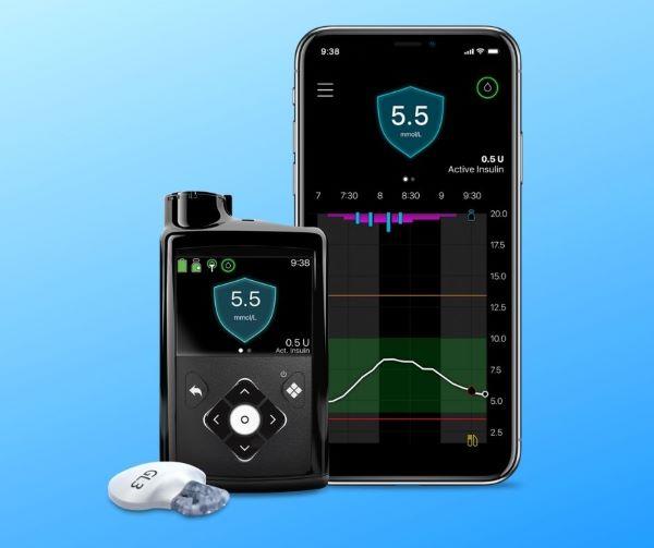 Medtronic 780G, transmiter i pripadajuća aplikacija